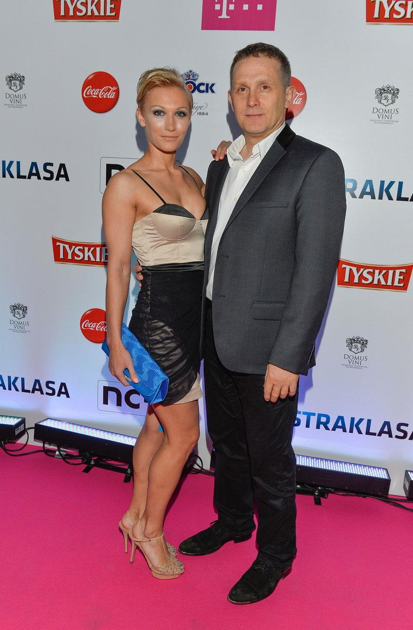 Robert Moskwa z partnerką Patrycją Cieślak