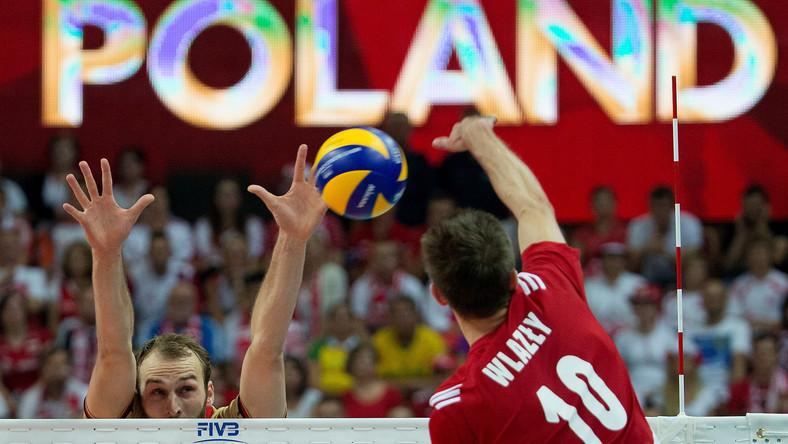Mariusz Wlazły podczas meczu półfinałowego mistrzostw świata siatkarzy