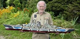76-latek z Jedliny-Zdroju buduje fascynujące makiety okrętów. Jego armada zapiera dech! ZDJĘCIA