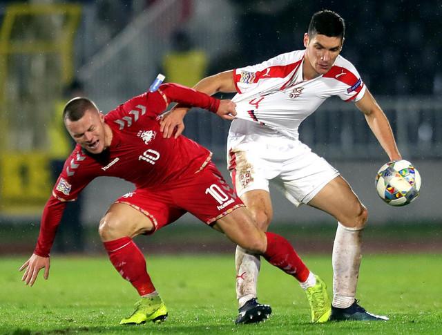 Detalj sa meča Srbije i Litvanije u Ligi nacija