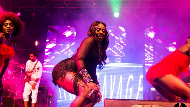 Tiwa Savage pictured here performing during the launch of the R.E.D album in Kenya has been added to performers at the 2019 Wireless Festival 2019 [Mavin]