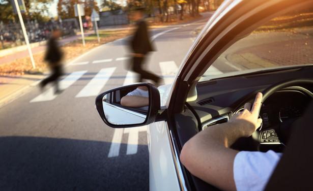 Wypadek przejście dla pieszych