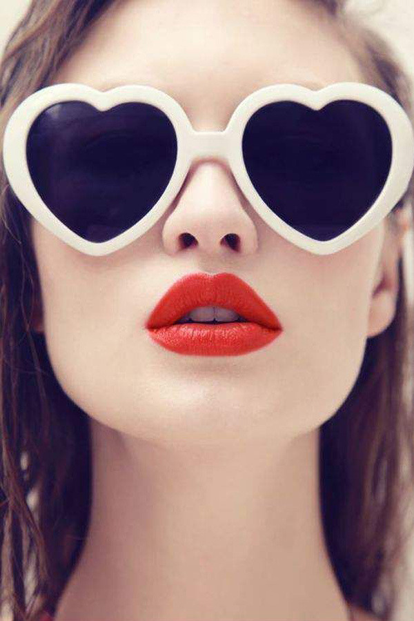 Pinterest http://likealady.net/red-lipstick-with-sunglasses/