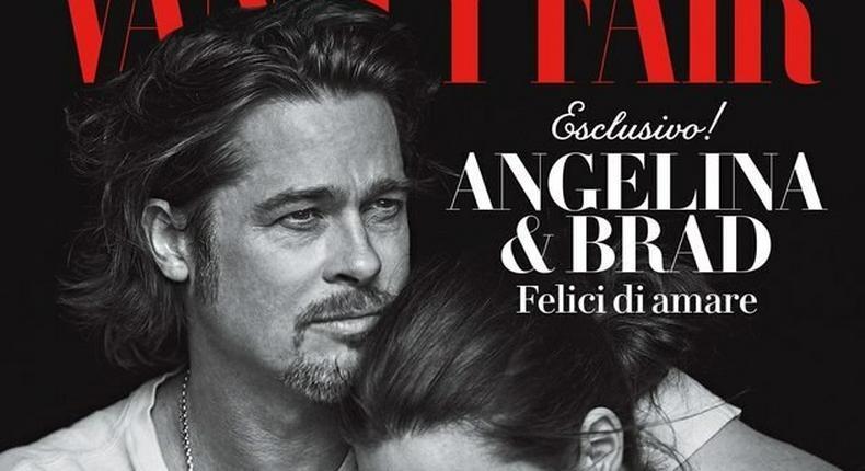 Brangelina embrace on the cover of Vanity Fair Italia