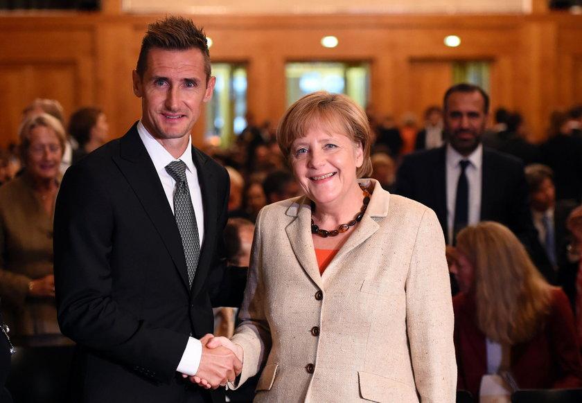 Angela Merkel z Miroslavem Klosem