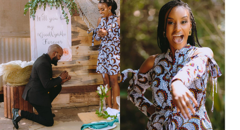 Gospel star Moji Short Baba proposes to longtime girlfriend & it's a Big YES! (Photos)