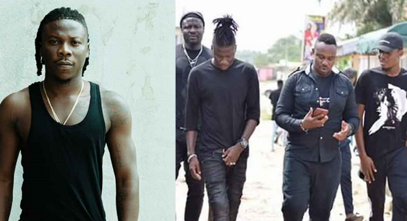 Stonebwoy and his team