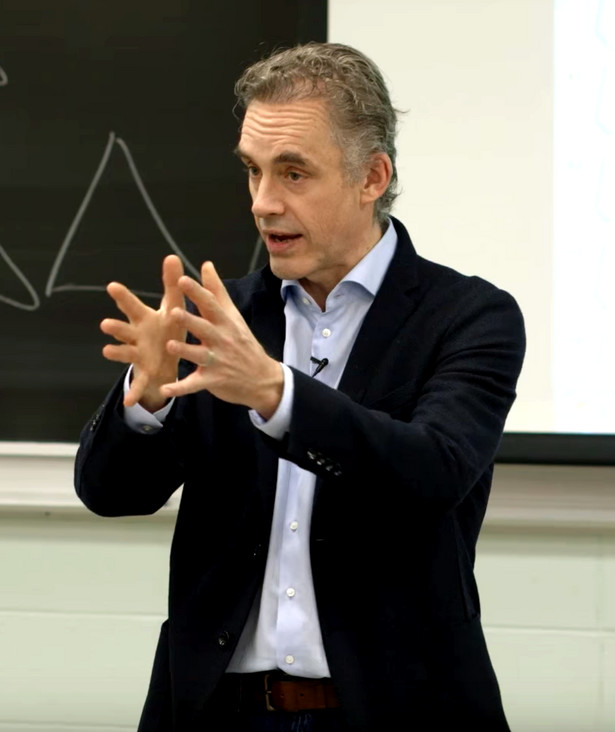 Jordan B. Peterson podczas wykładu.