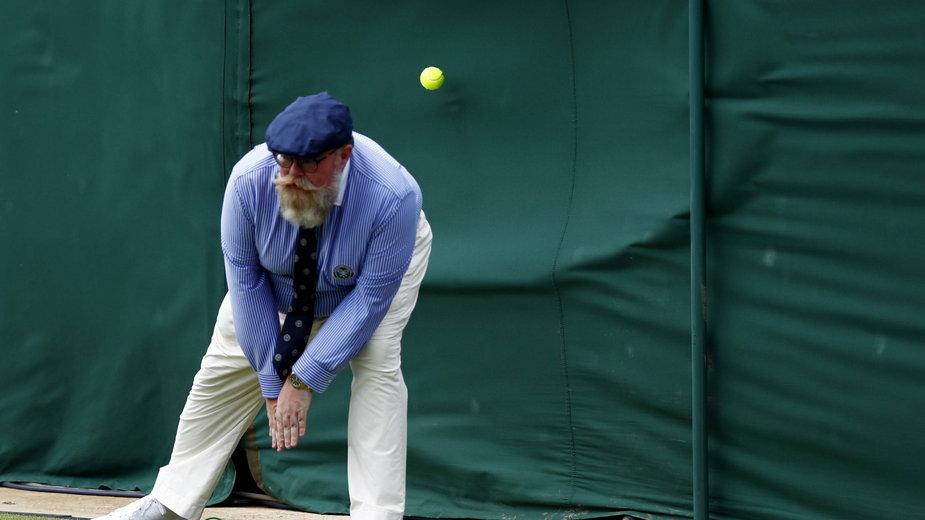 Sędzia liniowy podczas Wimbledonu 2019