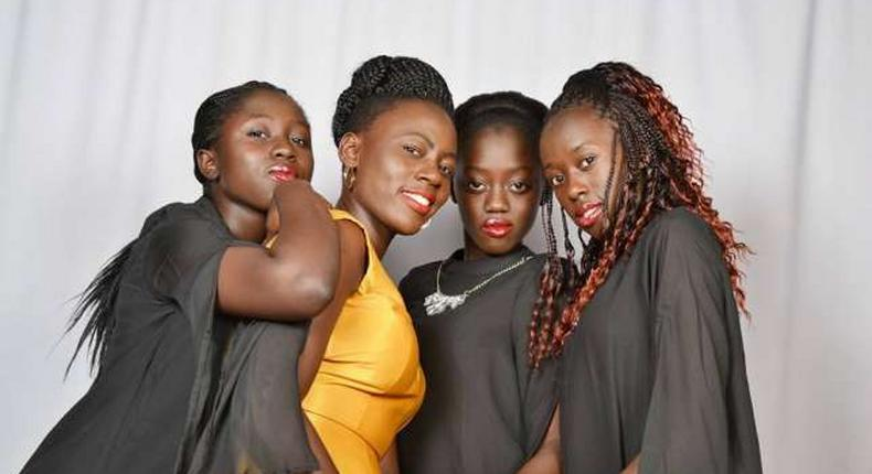 Singer Akothee with her Daughter's.