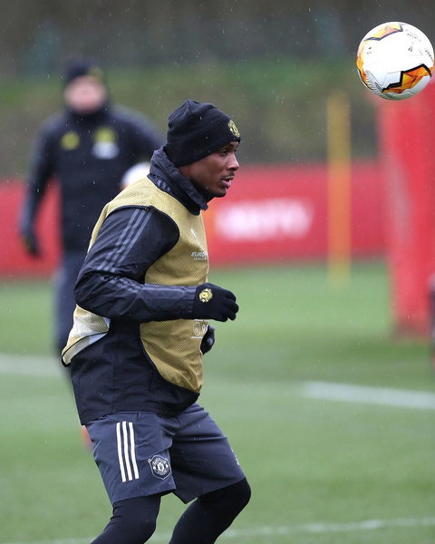 Odion Ighalo trained alone for a couple of days when he first joined Manchester United (Getty Images)