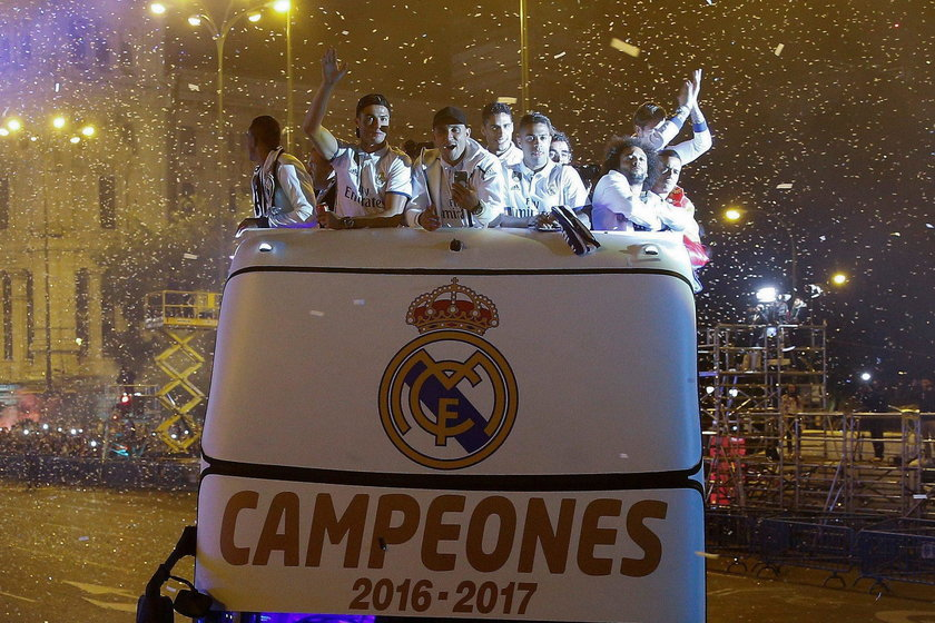 Szalona radość piłkarzy Realu