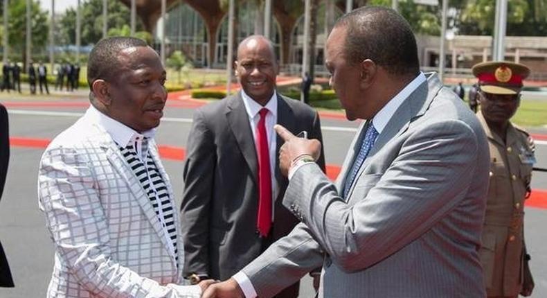 Mike Sonko with President Uhuru Kenyatta