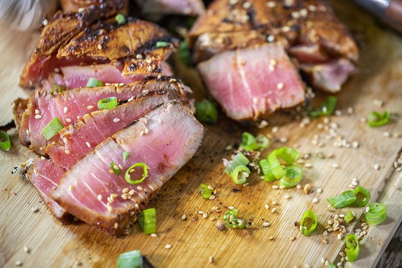 Fishes like Salmon, tuna, sardines contain a high amount of omega-3-fatty acids [Louisiana Grill]