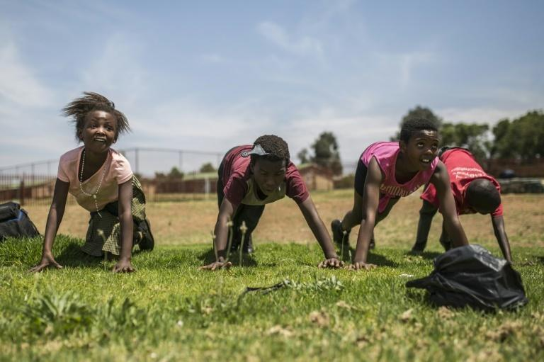 Female players from the Soweto Rugby Schools Academy train hard