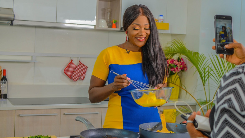 Mercy Johnson Okojie has completed the shoot for her new cooking/talk show, Mercy's Menu [Instagram/MercyMenu]