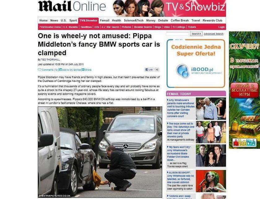 O masz! Zablokowali auto Pippy. Dlaczego?