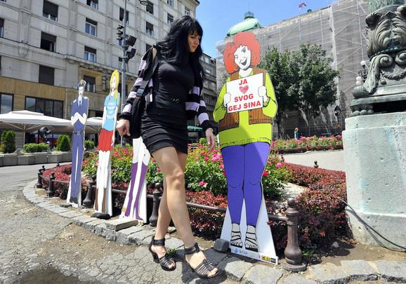 Jedna od lutki postavljenih danas u Beogradu