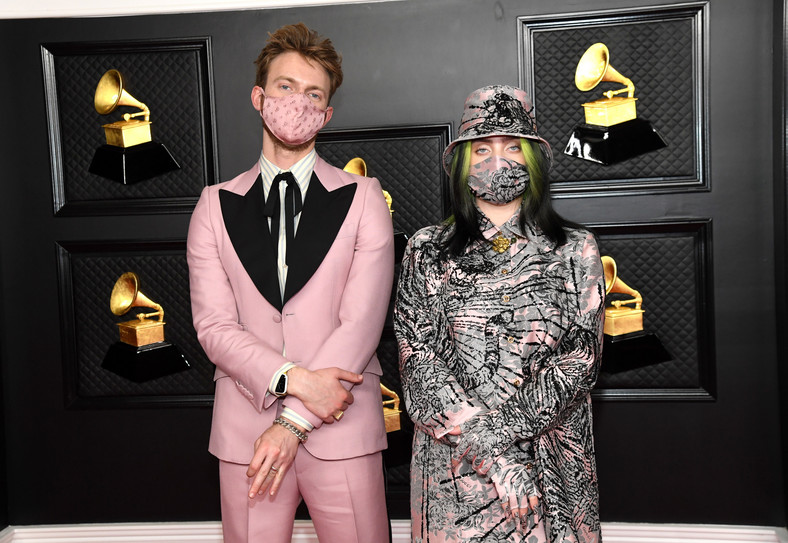 Billie Eilish with her brother at the Grammy Awards