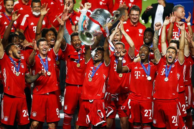 Trofej Lige šampiona u rukama Kingslija Komana