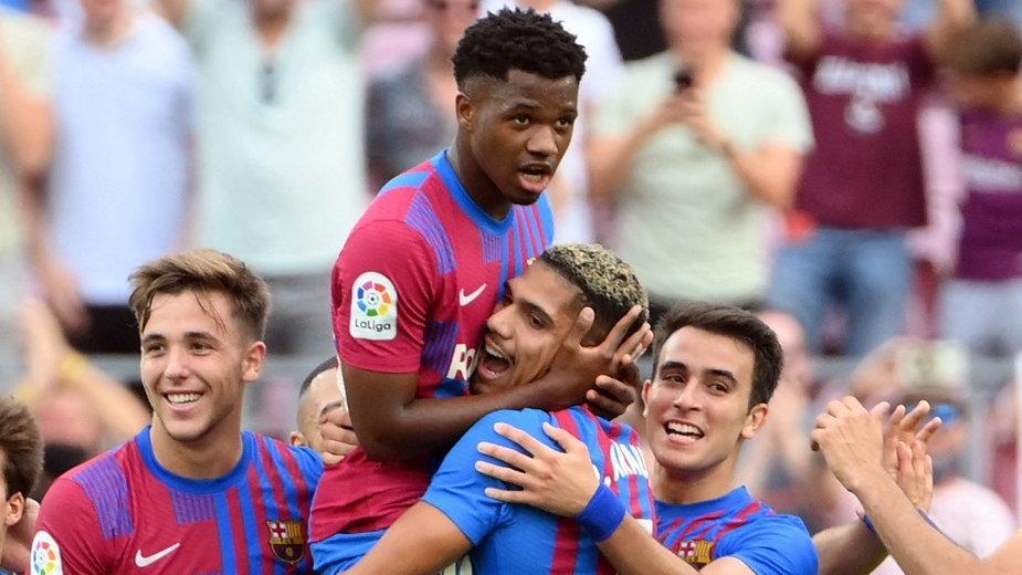 Reakcje piłkarzy po wygranej z Levante zdominowały gratulacje dla Ansu Fatiego