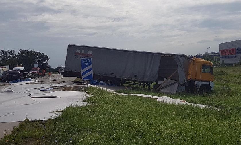 Wypadek na Bielanach Wrocławskich