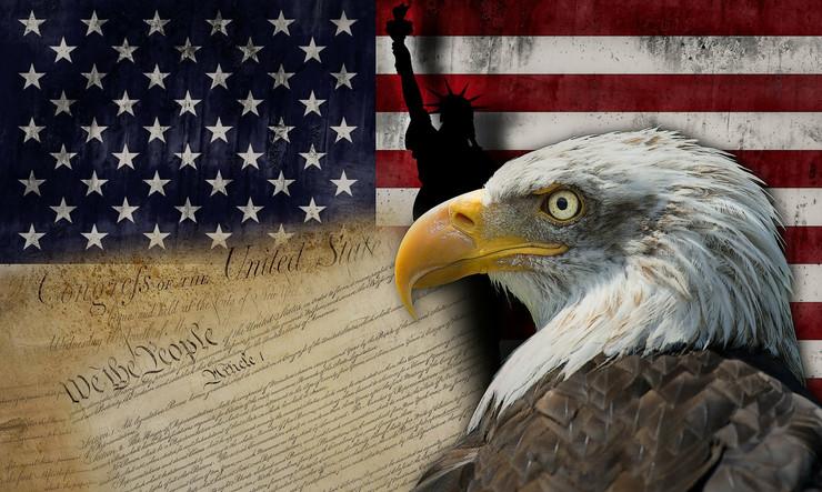 SAD, Ilustracija, Amerika, Zastava