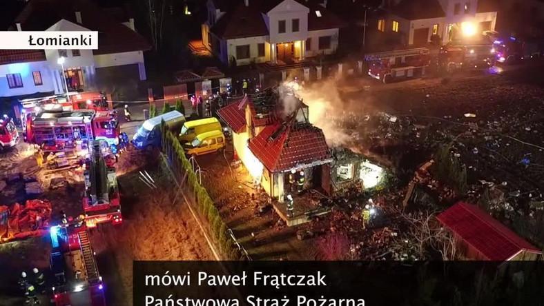 Pożar w Łomiankach