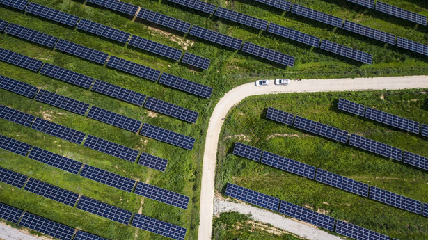 A solar panel farm in China. Photographer: Qilai Shen/Bloomberg