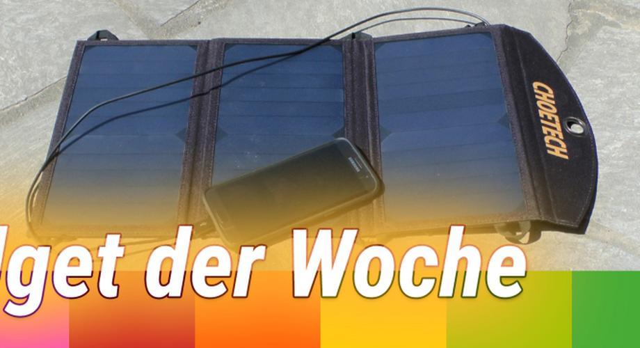 Gadget der Woche 67: Solar-Ladegerät für Handy & Tablet