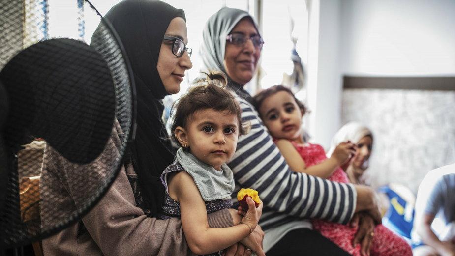 Rodzina uchodźców w Niemczech