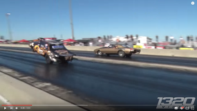 Ford Mustang w powietrzu