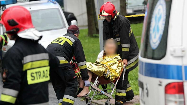 Ranni trafili do kilku szpitali
