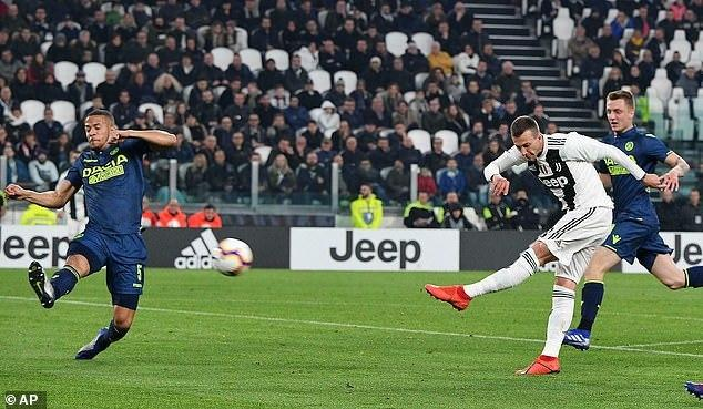William Troost-Ekong could not stop Juventus from scoring four past Udinese (AP)