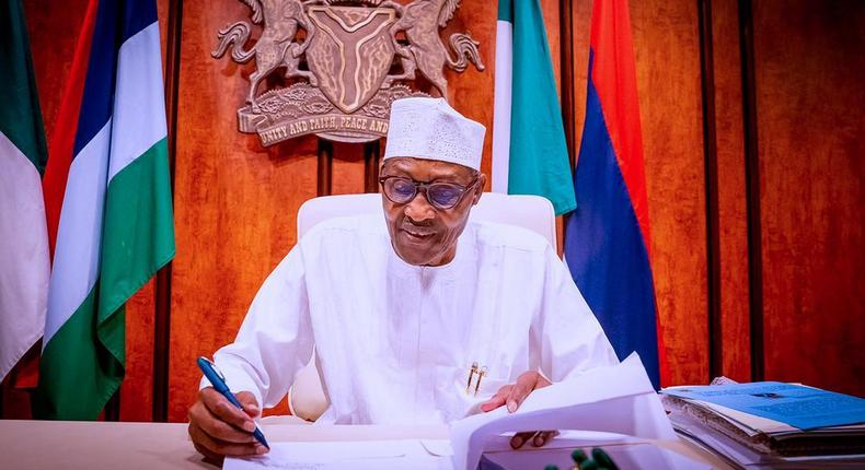 President Buhari signs PIB into law on August 16, 2021 (Femi Adesina)