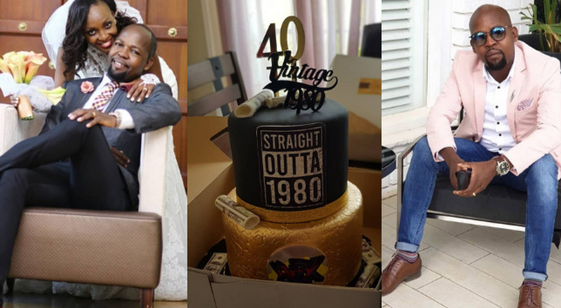 Alex Mwakideu's Wife pens down heartfelt message to hubby as he turns 40