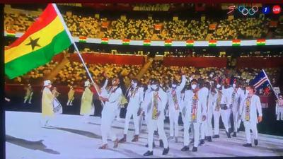 Tokyo 2020: Watch Team Ghana's colourful appearance at opening ceremony