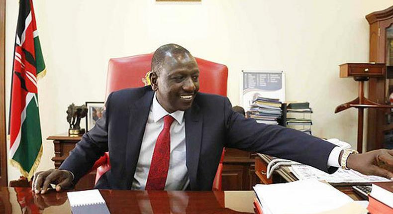 File image of DP Ruto at his office