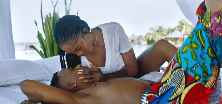 Wizkid and Tiwa Savage in the video for 'Fever' [Youtube/Wizkid]