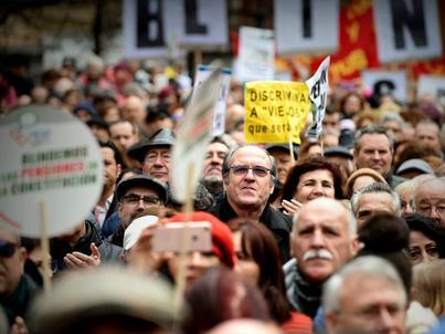 Hiszpańscy emeryci protestują