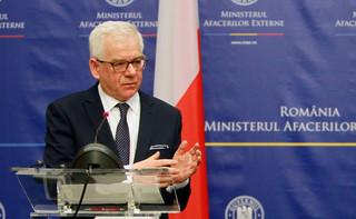 Reakcje na polską ustawę. Szef MSZ: Nie dajmy sobie wmówić, że czarne jest białe