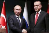 "Zaključenje projekta ""Turski tok"":Vladimir Putin i Tajip Erdogan"