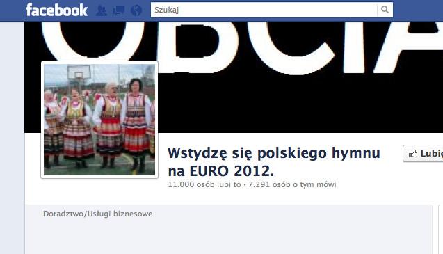 """Strona przeciwników """"Ko ko Euro spoko"""" na Facebooku"""