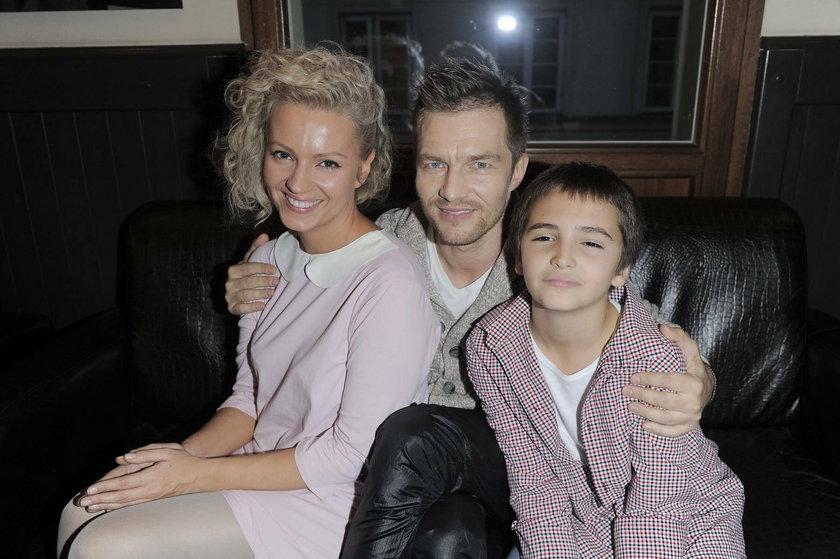 Adam Sztaba i Dorota Szelągowska z synem, Antkiem