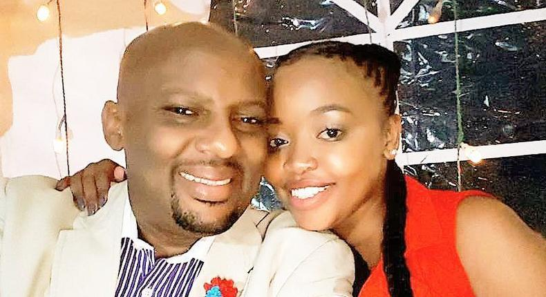 Janet Mwaluda with her fiancé Ian Mukuria
