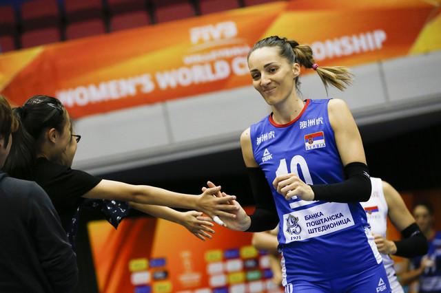 Maja Ognjenović pred početak meča sa Kazahstankama