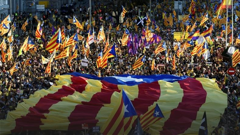 Saturday's march was the first by Catalan separatists in Madrid since 2012