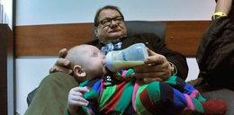 Zobacz, jak Ryszard Kalisz dba o synka