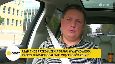 Piotr Bystrianin: Ze strony Białoruskiej co 2-3 dni dostają 3 chleby na 32 osoby. Z polskiej nic