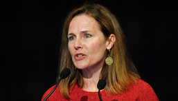 US Supreme Court Associate Justice Amy Coney Barrett speaks to an audience at the 30th anniversary of the University of Louisville McConnell Center in Kentucky on September 12, 2021.